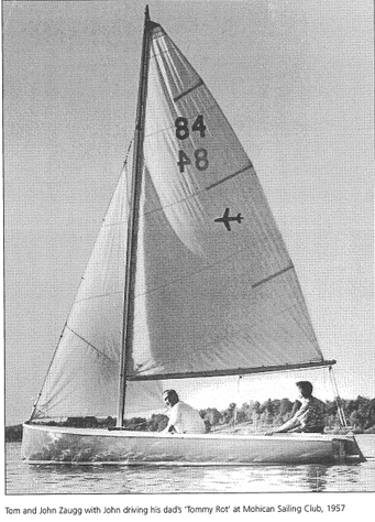 John and Tom Zaugg at Mohican Sailing Club, 1957